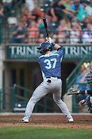 Cooper Johnson (37) of the West Michigan Whitecaps at bat against the Fort Wayne TinCaps at Parkview Field on August 5, 2019 in Fort Wayne, Indiana. The TinCaps defeated the Whitecaps 9-3. (Brian Westerholt/Four Seam Images)