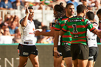 David Fusitu'a of the NZ Warriors, Rabbitohs v Vodafone Warriors, NRL rugby league premiership. Optus Stadium, Perth, Western Australia. 10 March 2018. Copyright Image: Daniel Carson / www.photosport.nz