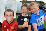 Josh Wall, Cia McGowan Matthew Eccles<br /> at the Highlands sports day <br /> Picture www.newsfile.ie