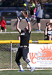 Western Nevada&rsquo;s Kacie Freudenberger makes a catch against College of Southern Nevada at Edmonds Sports Complex in Carson City, Nev., on Friday, April 1, 2016. <br />Photo by Cathleen Allison/Nevada Photo Source