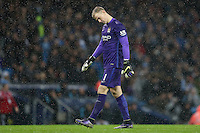 Joe Hart looks dejected during the Barclays Premier League Match between Manchester City and Swansea City played at the Etihad Stadium, Manchester on 12th December 2015