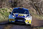 10th February 2019, Galway, Ireland; Galway International Rally; Alastair Fisher and Gordon Noble (Ford Fiesta R5) lie in 3rd position after 3 stages
