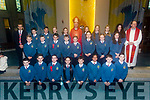 The 6th class students of Scoil Eoin Balloonagh who were Confirmed in Our Lady & St. Brendan's Church on Thursday. By Bishop Ray Browne. Pictured Michael O'Tool, Confirmation Class  with PP Fr. Padraig Walsh