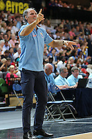 Head Coach Dusko Ivanovic of Bosnia & Herzegovina during the EuroBasket 2015 2nd Qualifying Round Great Britain v Bosnia & Herzegovina (Euro Basket 2nd Qualifying Round) at Copper Box Arena in London. - 13/08/2014