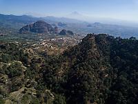 Cuatepetitla house Aerial drone photos, San Jose de los Laureles, Tlayacapan, Morelos, Mexico