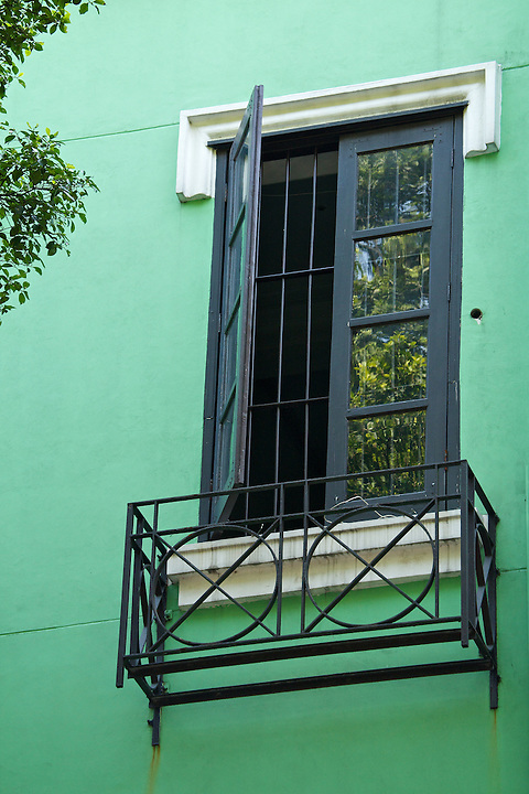 Window On The Griffith Building (1915).  North Street, Shamian (Shameen) Island, Guangzhou (Canton).