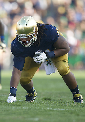 August 31, 2013:  Notre Dame defensive lineman Sheldon Day (91) during NCAA Football game action between the Notre Dame Fighting Irish and the Temple Owls at Notre Dame Stadium in South Bend, Indiana.  Notre Dame defeated Temple 28-6.