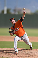 San Francisco Giants pitcher Mark Reyes (61) during an Instructional League game against the Oakland Athletics on October 15, 2014 at Papago Park Baseball Complex in Phoenix, Arizona.  (Mike Janes/Four Seam Images)