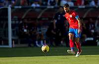 CARSON, CA - FEBRUARY 1: Giancarlo Gonzalez #3 of Costa Rica passes off a ball during a game between Costa Rica and USMNT at Dignity Health Sports Park on February 1, 2020 in Carson, California.
