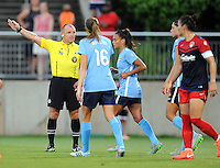 Boyds, MD - Saturday June 25, 2016: Referees, Caroline Stanley, Taylor Lytle during a United States National Women's Soccer League (NWSL) match between the Washington Spirit and Sky Blue FC at Maureen Hendricks Field, Maryland SoccerPlex.
