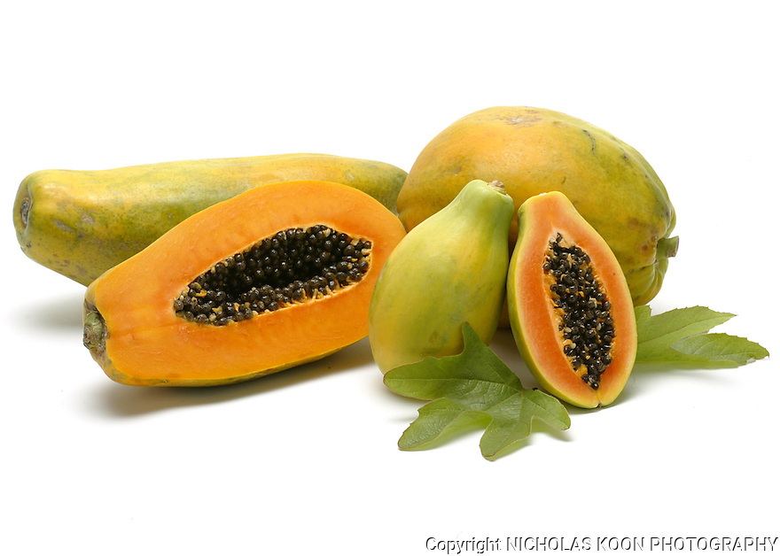 Papaya still life.