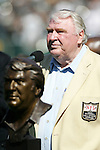 Oakland Raiders legendary coach John Madden is inducted into the Hall of Fame before a game versus the Arizona Cardinals, Oct. 22, 2006, at McAfee Colisuem, in Alameda, CA.  The Raiders won the game 22-19.