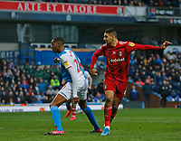 8th February 2020; Ewood Park, Blackburn, Lancashire, England; English Football League Championship Football, Aleksandar Mitrovic of Fulham scores his side's first goal to make the score 1-0 after 65 minutes