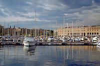 Barcelona, Spain, Port Vell Marina, Luxury Yachts
