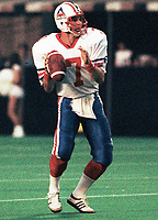 Joe Barnes Montreal Alouettes 1984. Photo F. Scott Grant