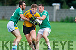 Martin Stack Feale Rangers under pressure from Pa McCarthy and John O'Connor St Kierans during the Garveys Supervalu County Championship game played in Listowel on Sunday