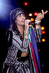 Steven Tyler of Aerosmith performing live in Feb 1988 at Long Beach Arena, California, USA