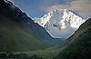 THE MAGESTIC NEVADO SALKANTAY RISES TO 6,280 METERS IN THE PERUVIAN ANDES ALONG THE SALKANTAY TRAIL