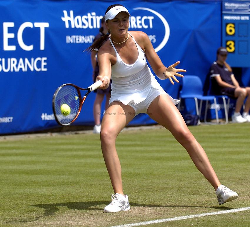 Photo: Richard Lane..Hastings Direct International Championship at Eastbourne. 16/06/2004..Daniela Hantuchova of Slovakia.