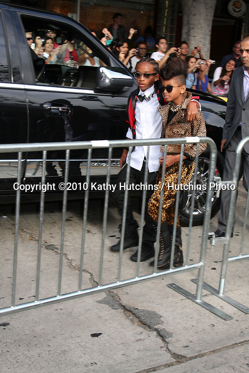 "Jaden & Willow Smith.arrives at ""The Karate Kid"" Movie Premire.Village Theater.Westwood, CA.June 7, 2010.©2010 Kathy Hutchins / Hutchins Photo.."