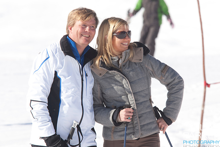 Crown Prince Willem Alexander and Crown Princess Maxima of Holland attends a Photocall with Members of The Dutch Royal Family during their Winter Ski Holiday in Lech Austria