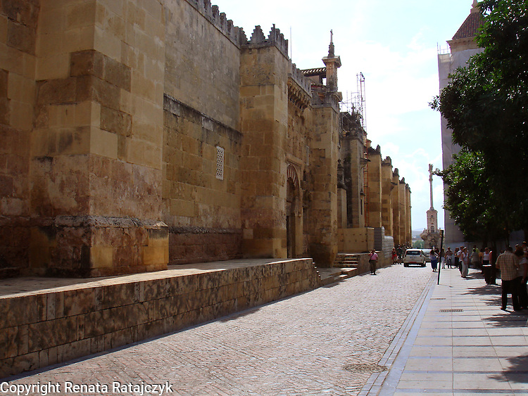 Street besid Great Mosque - Mezquita in Cordoba, Spain