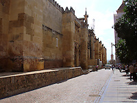 Street besid Great Mosque - Mezquita in Cordoba, Spain