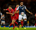 Malta's Andrei Agius and Scotland's Matthew Phillips compete for the ball during the World Cup Qualifying Group F match at Hampden Park Stadium, Glasgow. Picture date 4th September 2017. Picture credit should read: Craig Watson/Sportimage