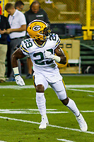 Green Bay Packers safety Kentrell Brice (29) during a National Football League game against the Chicago Bears on September 28, 2017 at Lambeau Field in Green Bay, Wisconsin. Green Bay defeated Chicago 35-14. (Brad Krause/Krause Sports Photography)