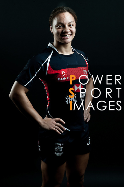 Nathasha Olson-Thorne poses during the Hong Kong 7's Squads Portraits on 5 March 2012 at the King's Park Sport Ground in Hong Kong. Photo by Andy Jones / The Power of Sport Images for HKRFU
