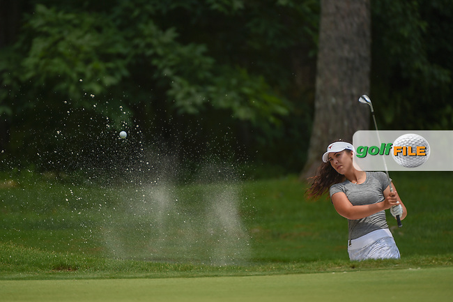 Sophia Schubert (a)(USA) hits from the trap on 1 during round 1 of the U.S. Women's Open Championship, Shoal Creek Country Club, at Birmingham, Alabama, USA. 5/31/2018.<br /> Picture: Golffile | Ken Murray<br /> <br /> All photo usage must carry mandatory copyright credit (© Golffile | Ken Murray)