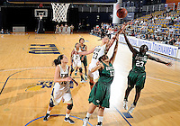 Florida International University forward Finda Mansare (23) plays against Stetson University in the first round of the NIT.  FIU won the game 75-47 on March 15, 2012 at Miami, Florida. .