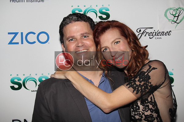 Frank Dandrea, Tanna Frederick<br /> at the Tanna Frederick &amp; Project Save Our Surf Partnership Launch With DNA Health Institute, Larissa Love Cosmetics, Santa Monica, CA 05-13-15<br /> Dave Edwards/DailyCeleb.com 818-249-4998