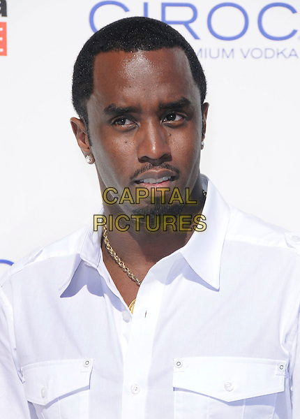 SEAN COMBS aka P.Diddy.at The White Party  held at  private Estate in Cold Water Canyon, California, USA, July 4th 2009.                                                                   .Independence Day portrait headshot beard facial hair P Diddy p.diddy puffy puff daddy.CAP/DVS.©Debbie VanStory/RockinExposures/Capital Pictures
