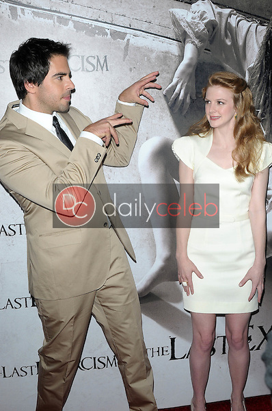 """Eli Roth and Ashley Bell<br /> at a Special Screening of """"The Last Exorcism,"""" Arclight Theater, Hollywood, CA. 08-24-10<br /> David Edwards/Dailyceleb.com 818-249-4998"""