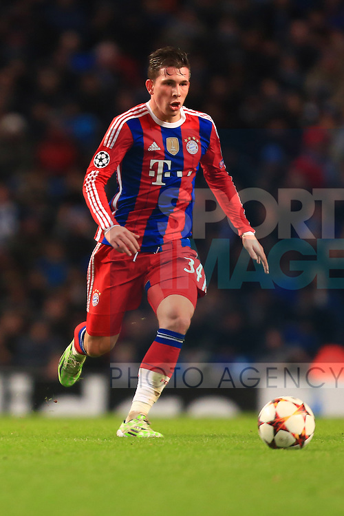 Pierre Hojbjerg of Munich - Manchester City vs. Bayern Munich - UEFA Champion's League - Etihad Stadium - Manchester - 25/11/2014 Pic Philip Oldham/Sportimage