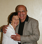"""OLTL's Thom Christopher """"Carlo""""  poses with his wife Judith at the One Life To Live Fan Club Luncheon on August 16, 2008 at the New York Marriott Marquis, New York, New York.  (Photo by Sue Coflin/Max Photos)"""