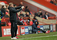 Karl Robinson manager of Charlton Athletic during the Sky Bet League 1 match between Charlton Athletic and Peterborough at The Valley, London, England on 28 November 2017. Photo by Vince  Mignott / PRiME Media Images.
