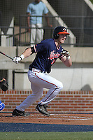 University of Virginia Cavaliers infielder Joe McCarthy #31 at bat during a game against the University of Kentucky Wildcats at Brooks Field on the campus of the University of North Carolina at Wilmington on February 14, 2014 in Wilmington, North Carolina. Kentucky defeated Virginia by the score of 8-3. (Robert Gurganus/Four Seam Images)