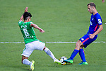 Lee Ka Yiu of Wofoo Tai Po (L) in action against Kitchee Midfielder Krisztian Vadocz (R) during the Hong Kong FA Cup final between Kitchee and Wofoo Tai Po at the Hong Kong Stadium on May 26, 2018 in Hong Kong, Hong Kong. Photo by Marcio Rodrigo Machado / Power Sport Images