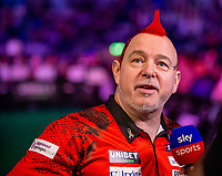12th March 2020; M and S Bank Arena, Liverpool, Merseyside, England; Professional Darts Corporation, Unibet Premier League Liverpool; Peter Wright is interviewed by Sky Sports