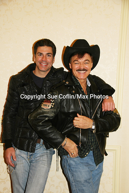 Eric Etebari and Randy Jones (The Village People) both are in the new indie film An Affirmative Act! - a groundbreaking gay marriage courtroom drama on January 21, 2010 at the Marriott Saddle Brook, Saddle Brook, NJ. Film opens at the Hoboken International Film Festival. (Photo by Sue Coflin/Max Photos)