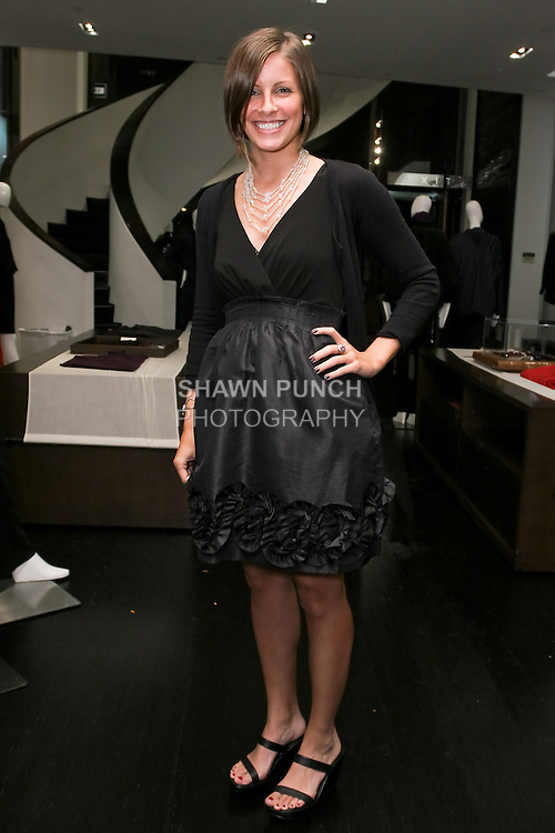 Kira Kohrherr posing during the Blanc de Chine Fashion's Night Out event with The Museum Of Chinese In America, at 673 5th Avenue, September 10, 2010.