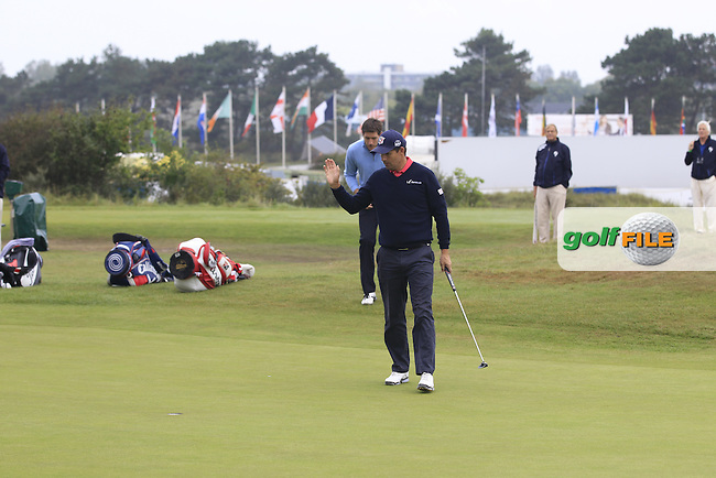 Padraig Harrington (IRL) on the 13th during Round 4 of the KLM Open at Kennemer Golf &amp; Country Club on Sunday 14th September 2014.<br /> Picture:  Thos Caffrey / www.golffile.ie