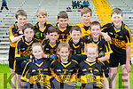The Glenbeigh NS team that participated in the Killarney Garda primary schools football blitz in Fitzgerald Stadium on Thursday front row l-r: Eimear Burke, Roisin Griffin, Caithlin McMahon. Middle row: Padraic brennan, Rain O'Donovan, Ronan Sheahan, Shane Morris. Back row: Sean Page, Daniel McGillycuddy, Keith Sheahan, Diarmuid McGillycuddy,  and Liam Smith