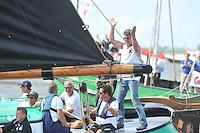 SKUTSJESILEN: WOUDSEND: 29-07-2013, SKS skûtsjesilen, Skûtsje van Sneek wint, ©foto Martin de Jong