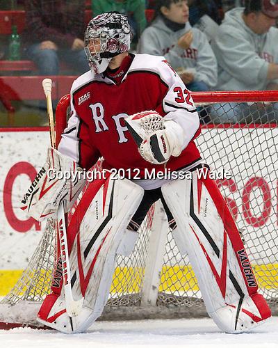 Bryce Merriam (RPI - 32) - The Harvard University Crimson defeated the visiting Rensselaer Polytechnic Institute Engineers 4-0 (EN) on Saturday, November 10, 2012, at Bright Hockey Center in Boston, Massachusetts.