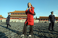 Miss Ireland  Rosanna Davison visits the Forbidden City in Beijing, China. <br /> <br /> photo by Lou Lin Wei / Sinopix