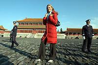 Miss Ireland  Rosanna Davison visits the Forbidden City in Beijing, China. <br /> <br /> photo by Lou Lin Wei / Sinopix