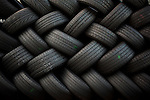 QUEENS, NY -- OCTOBER 25, 2013:  Stacked car tires in Willets Point on October 25, 2013 in Queens, NY.  PHOTOGRAPH  BY MICHAEL NAGLE FOR THE NEW YORK TIMES